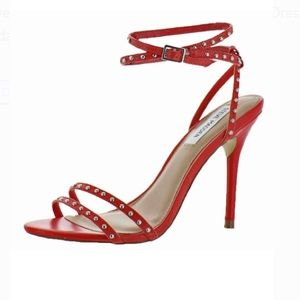 "Steve Madden ""wish"" red studded heels"